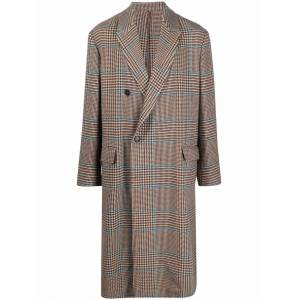 Costumein check trench coat - Brown -Male