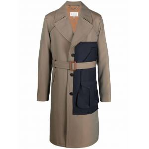 Maison Margiela single-breasted panelled trench coat - Neutrals -Male
