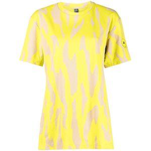 adidas by Stella McCartney abstract-print T-shirt - Yellow -Female
