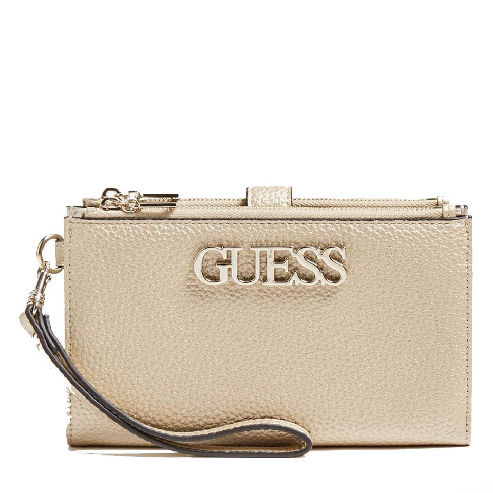 GUESS Uptown Chic SLG Line – Gold Pochette For Cards and Phone