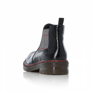 Rieker 76264 Ladies Black Zipper Size 37 Size: 37