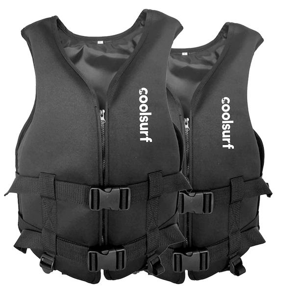 CoolSnow.co.uk 2 x CoolSurf Neoprene Life jacket - Unisex - 75-105 kg 40-60 kg