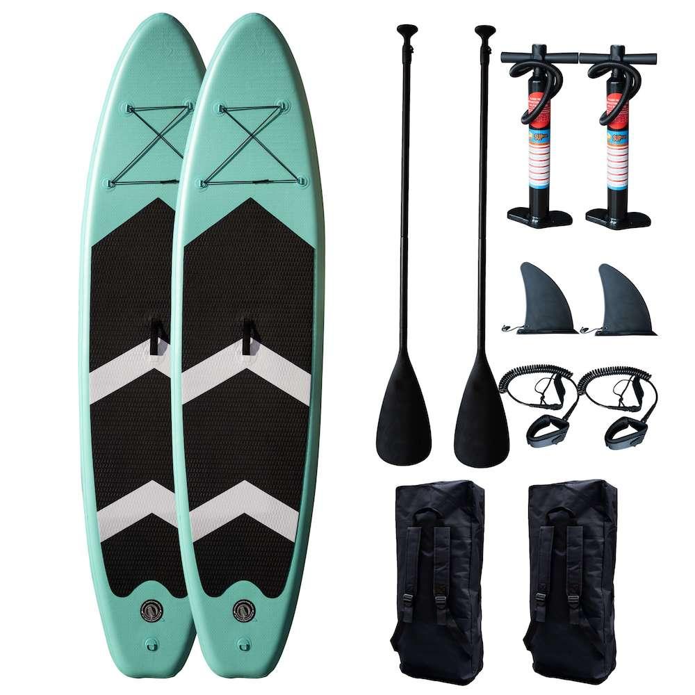 CoolSnow.dk - Populrt udstyr og skibriller til din skiferie! 2 x Surfy Paddleboard - Inflatable SUP 3,2M