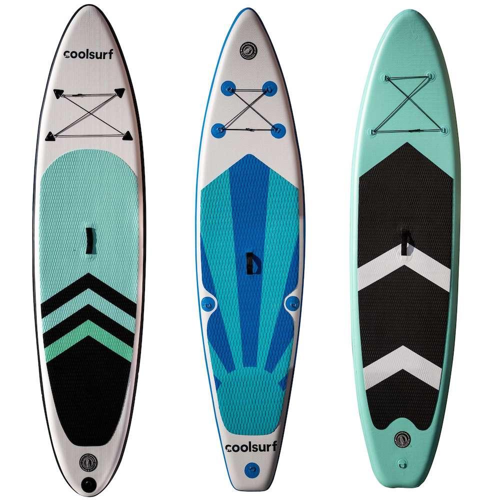 """CoolSnow.dk - Populrt udstyr og skibriller til din skiferie! 3 x Paddleboards - Choose variants - CoolSurf Stormy Kite Paddleboard - Inflateable SUP 10'4 CoolSurf Sail Paddleboard - Inflatable SUP 10.4"""" Surfy Pa"""