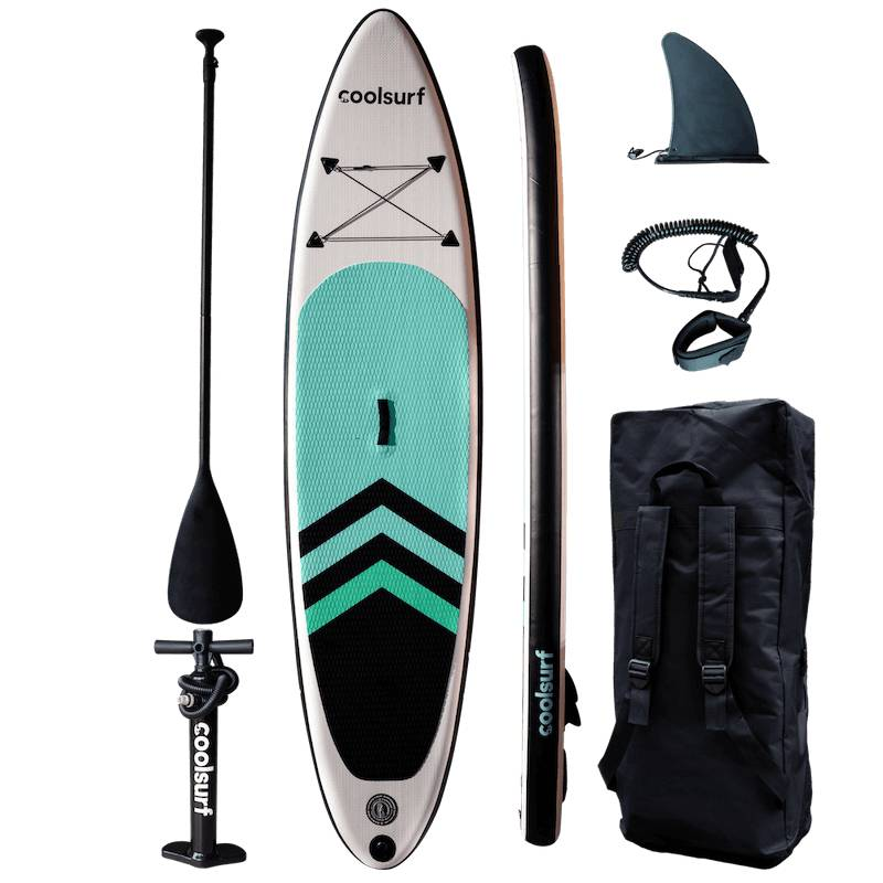 """CoolSnow.dk - Populrt udstyr og skibriller til din skiferie! CoolSurf Sail Paddleboard - Inflatable SUP 10,4"""""""