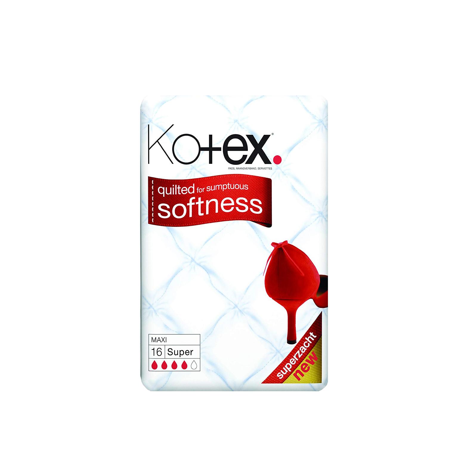 Kotex Maxi Super - 16 Towels Periods