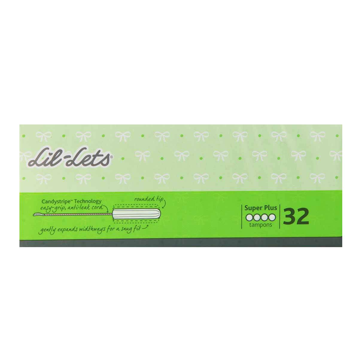 Lil-Lets Non-Applicator Tampons Super Plus - 32 Tampons Periods
