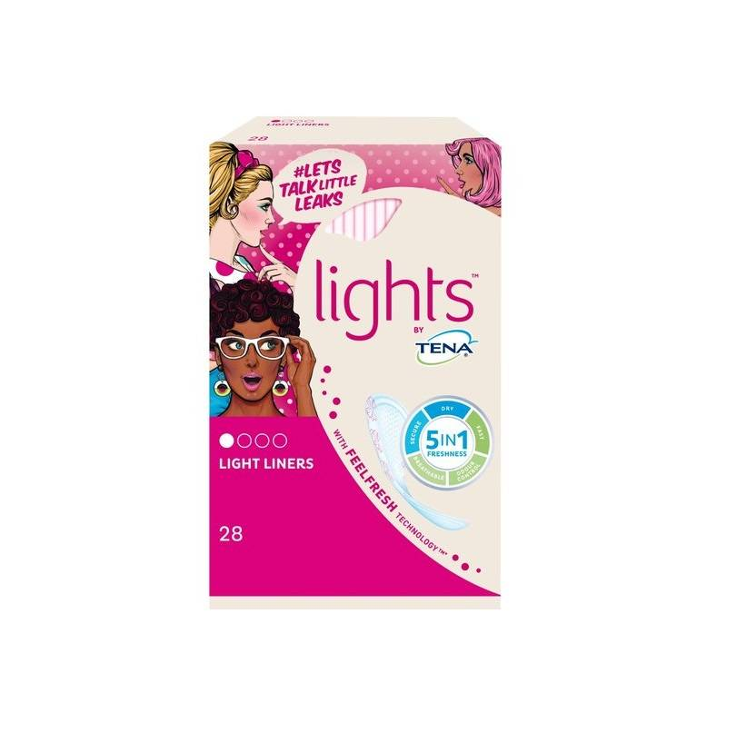 TENA Lights Incontinence Liners - 28 pack
