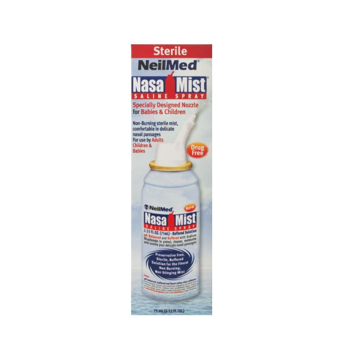 Neilmed NasaMist Saline Nasal Spray - 75ml Hayfever & Allergy