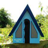 Hello Of Mayfair Personalised Camping Tent Bird Box Blue,Orange