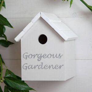 Hello Of Mayfair Personalised Gardener Birdhouse Black