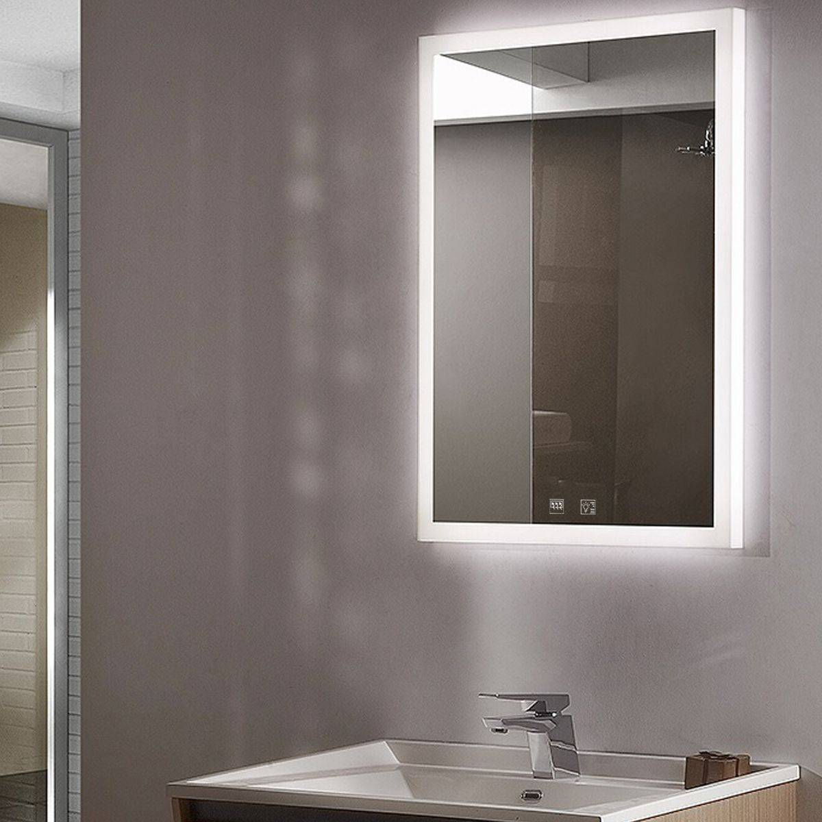 Simple Lighting LED Mirror, Colour Adjustable With Demister
