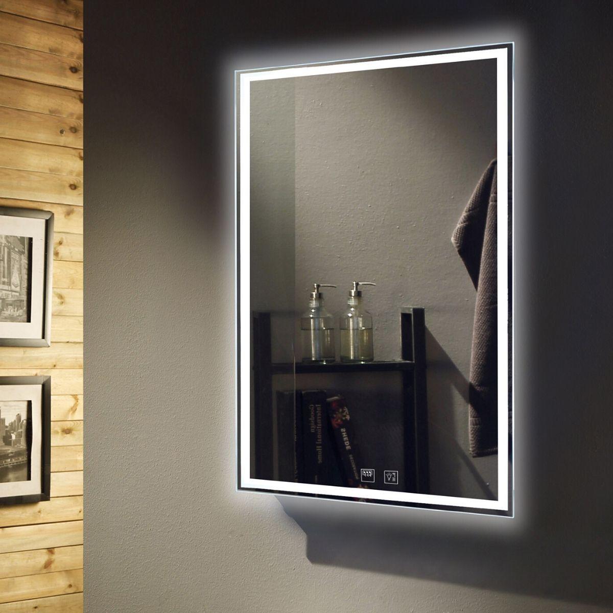 Simple Lighting Slimline Tunable LED Illuminated Mirror With Demister