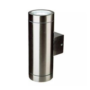 Simple Lighting Twin IP44 Outdoor Stainless Steel Wall Light - GU10