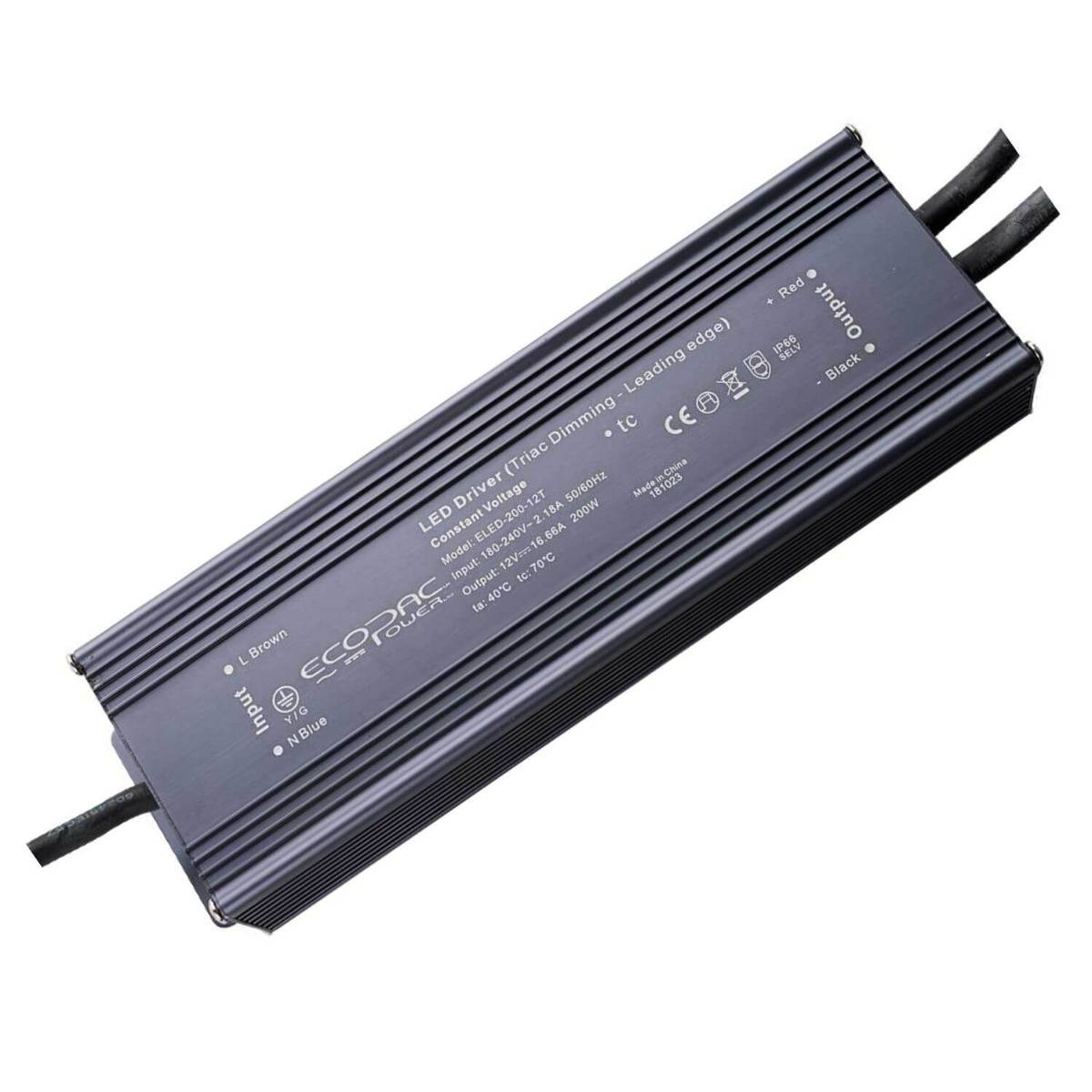 Simple Lighting 200w Dimmable Leading Edge LED Driver 12 or 24v
