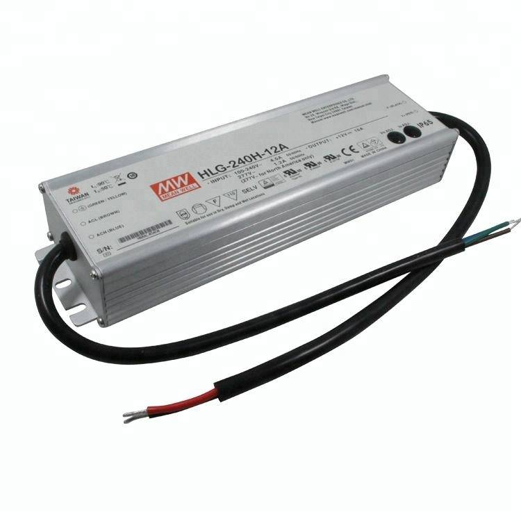 Simple Lighting Meanwell 240w LED Driver, 12 or 24v DC - 5 Year Warranty