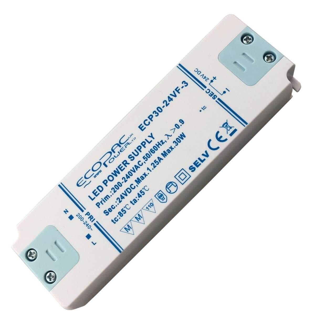 Simple Lighting 24v Slimline 30 Watt LED Driver