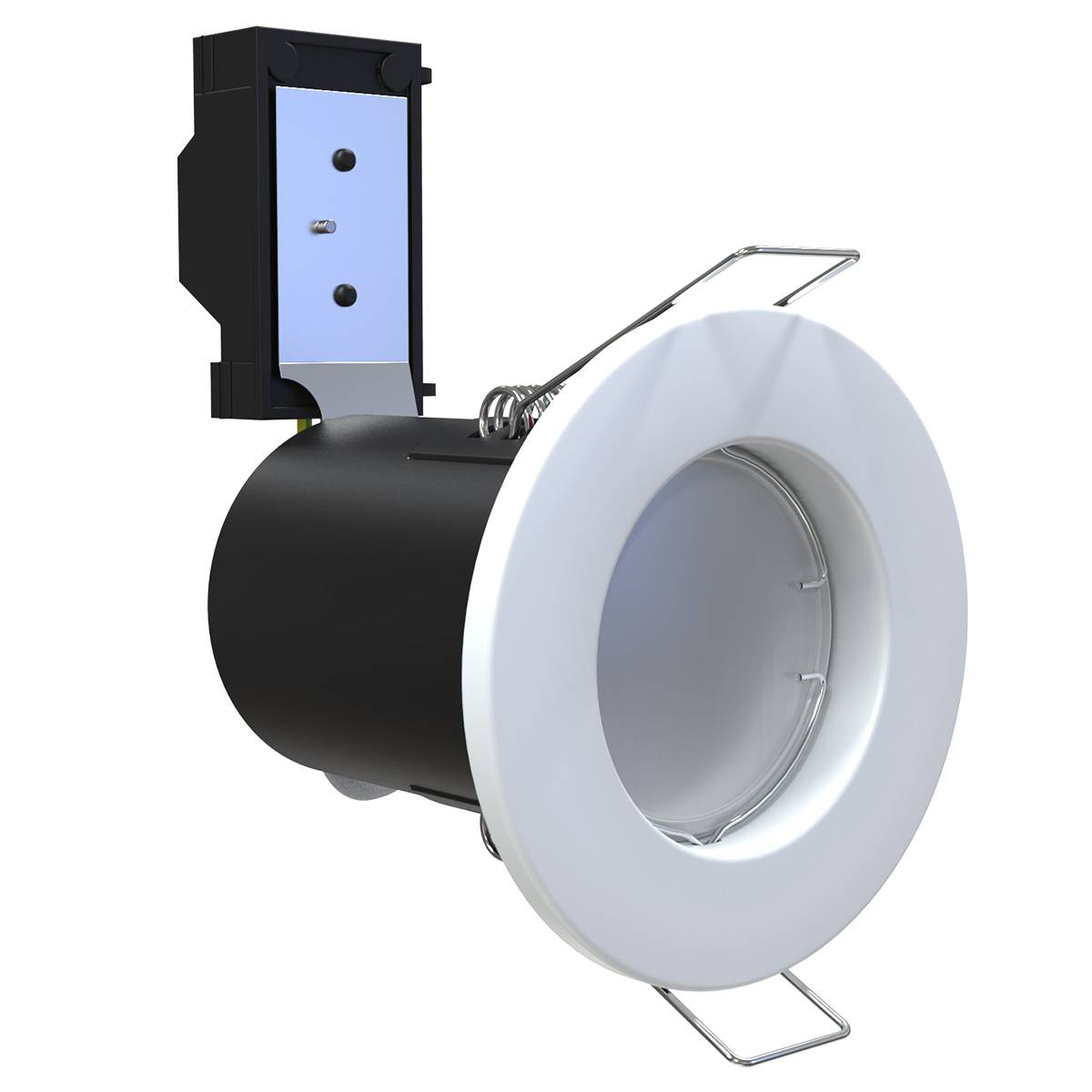 Simple Lighting Fire Rated GU10 LED Fixed Downlight in White, Brushed Chrome or Chrome