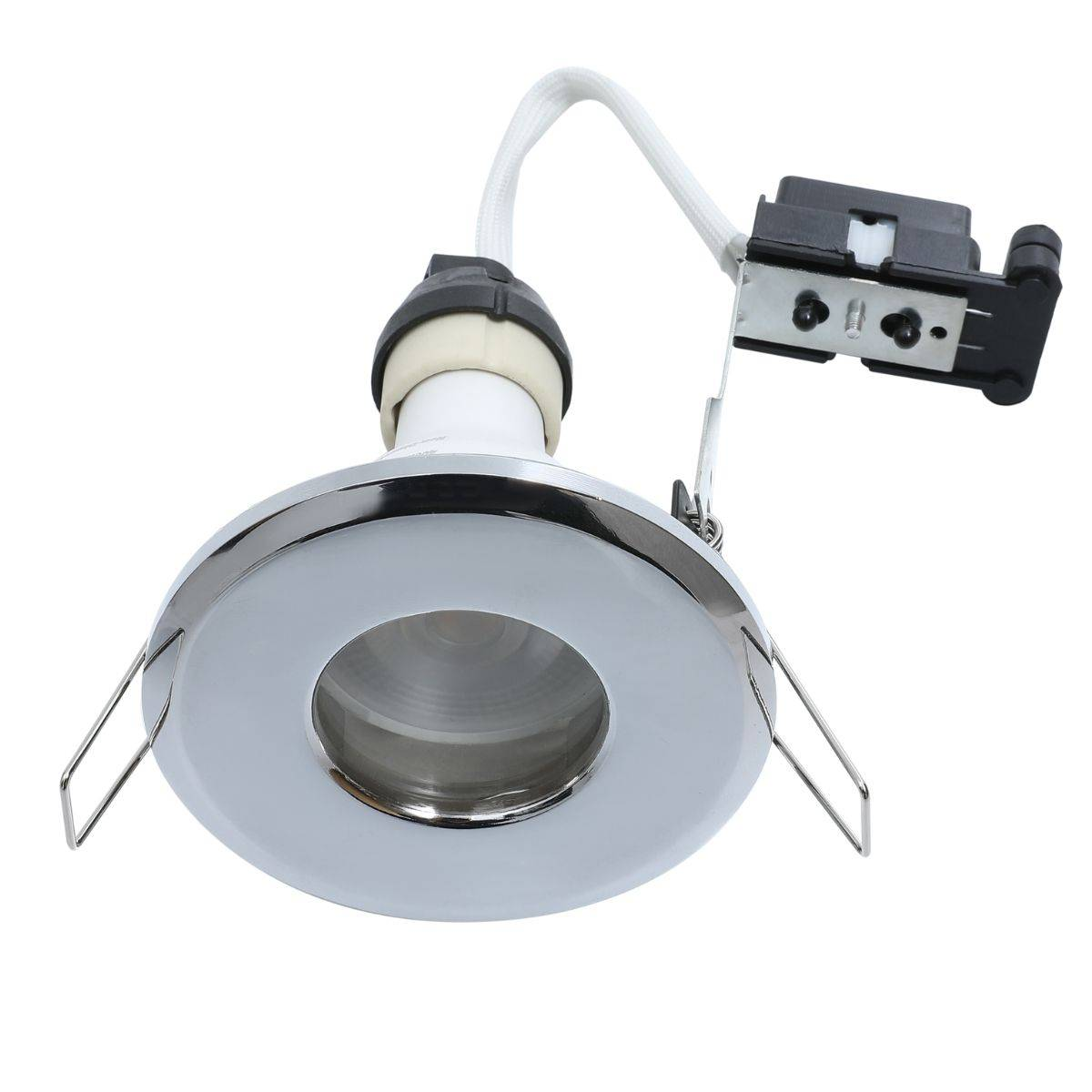 Simple Lighting IP65 Rated, Fixed, Shower Downlight - Polished Chrome Finish
