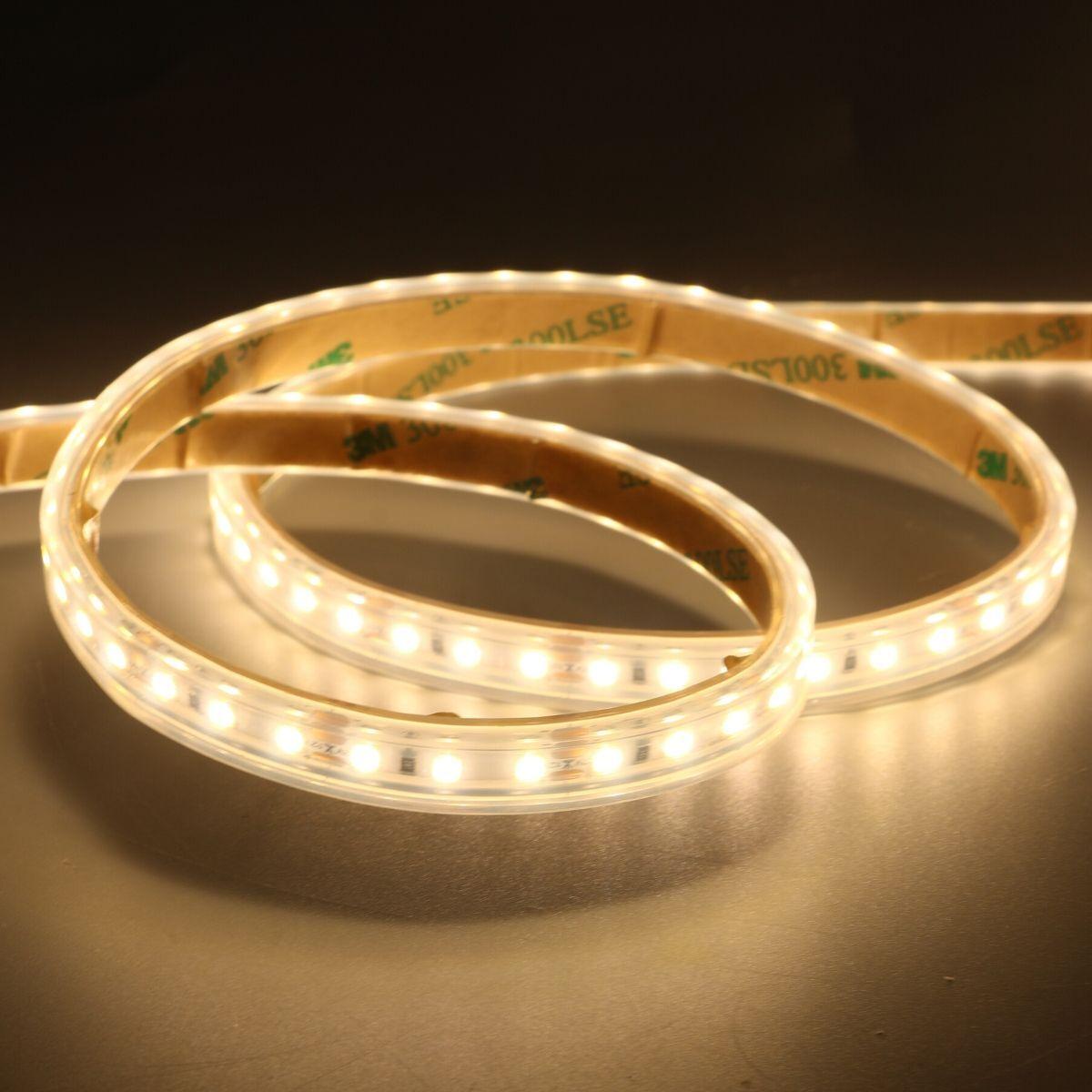 Simple Lighting 10w, IP65 Warm White LED Tape 120 LEDs Per Metre - 3000K