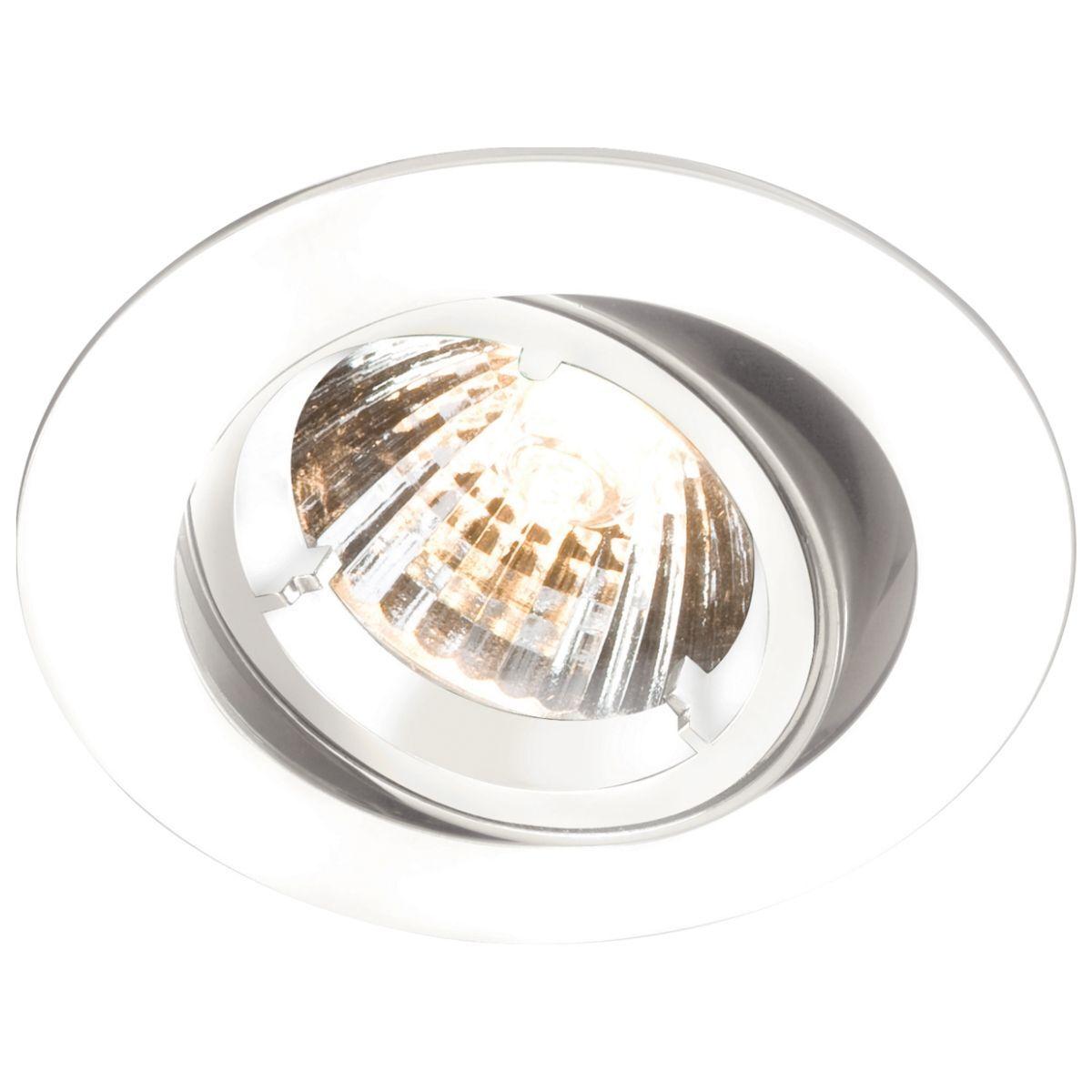 Simple Lighting White GU10 Tilt Downlight. Die-Cast Twist & Lock