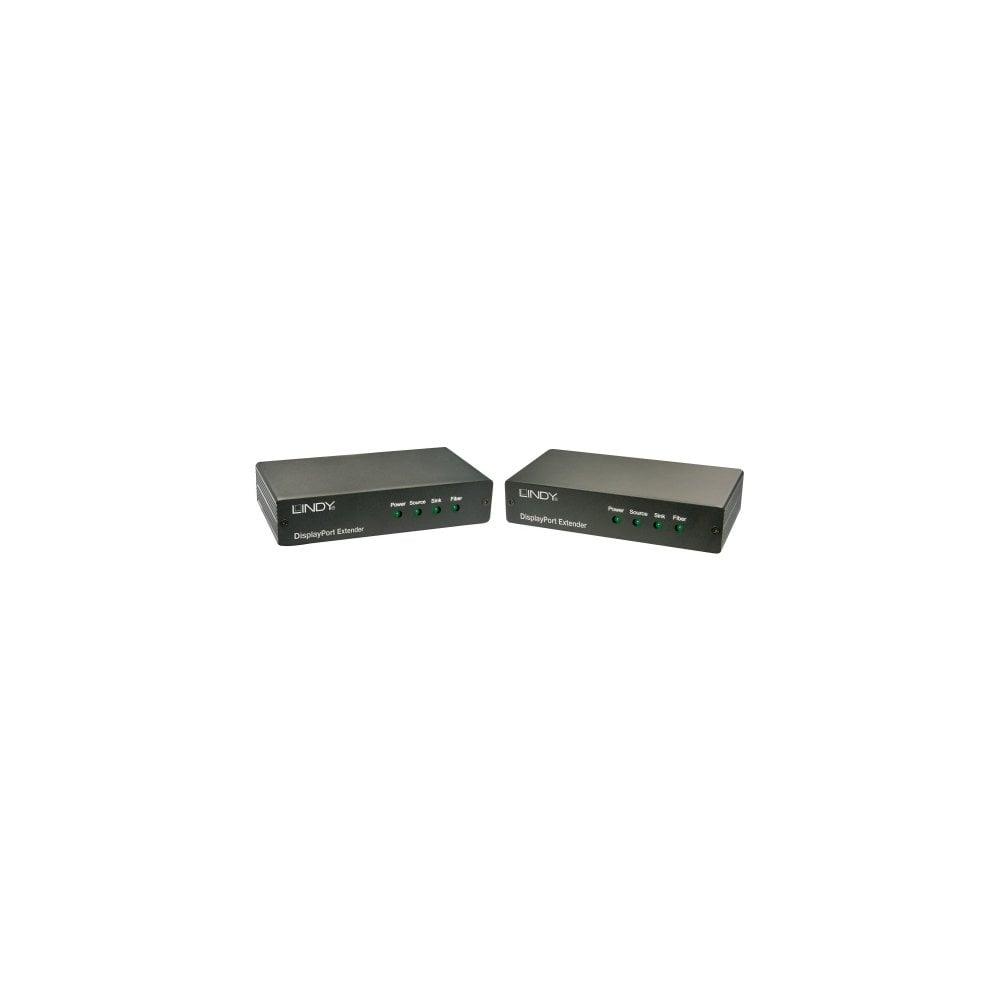 Lindy 38403 Network transmitter & receiver Black