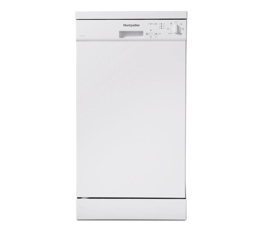 MONTPELLIER DW1065W Slimline Dishwasher - White, White