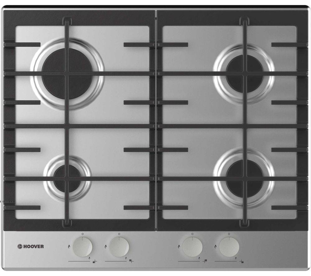 HOOVER H-HOB 300 GAS HHG6BRMX Gas Hob - Stainless Steel, Stainless Steel