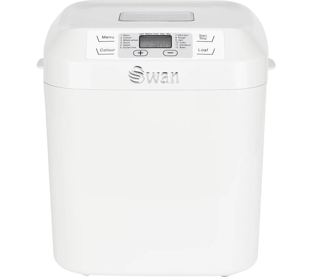 SWAN SB22110N Breadmaker - White, White