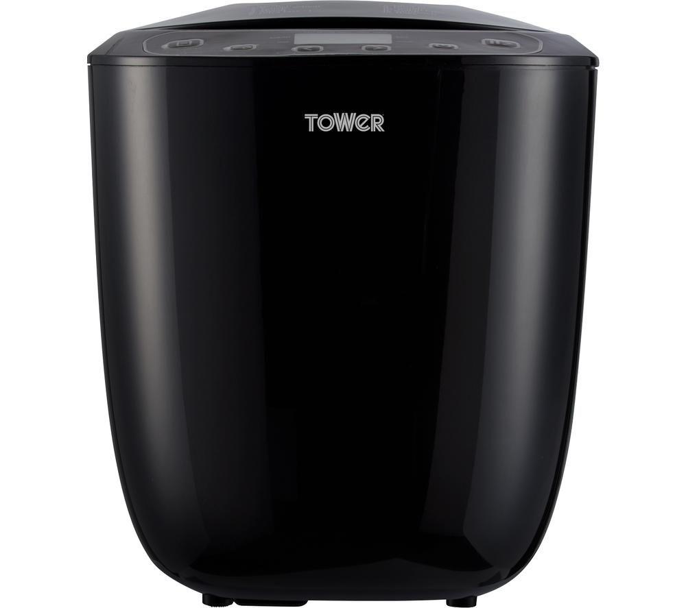 TOWER T11003 Breadmaker - Black, Black