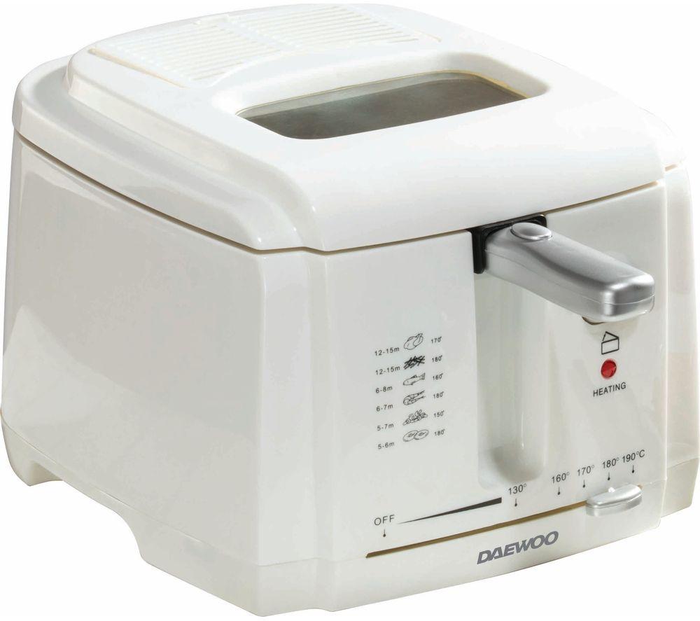 DAEWOO SDA1378 Deep Fryer - White, White