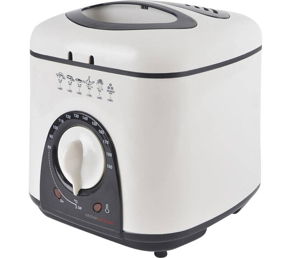 Kitchen LLOYTRON KitchenPerfected E6010WI Deep Fryer - White, White