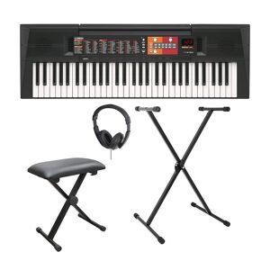 YAMAHA PSR-F51 Home Keyboard Bundle - Black, Black