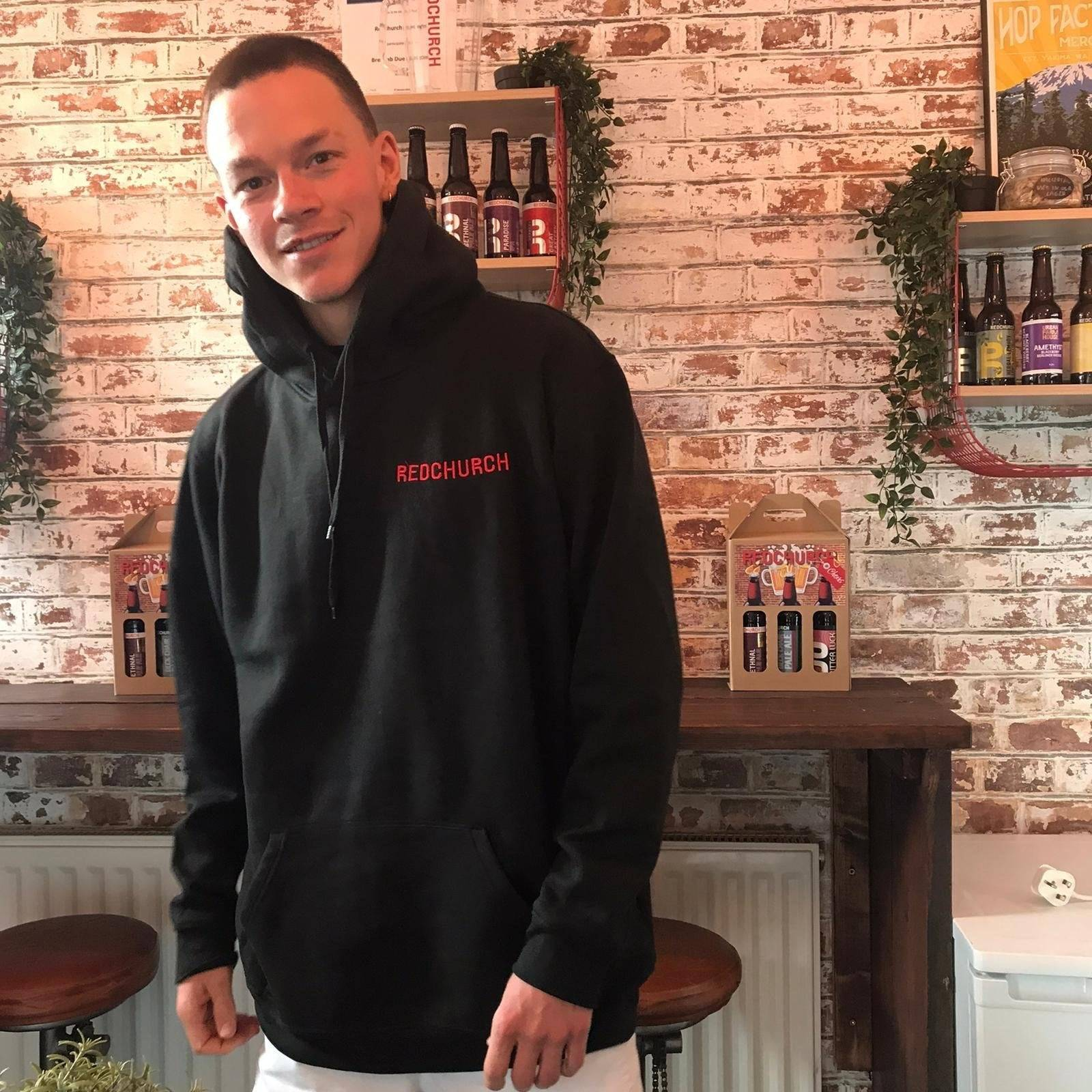 Redchurch Brewery Redchurch Embroidered Hoodie - Large  42-44