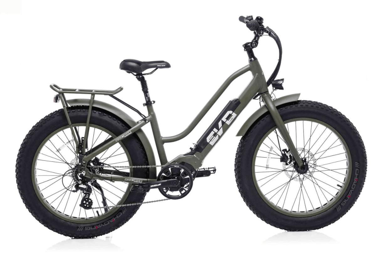 BadBike Ladies Electric Fat Bike EVO 250W Green