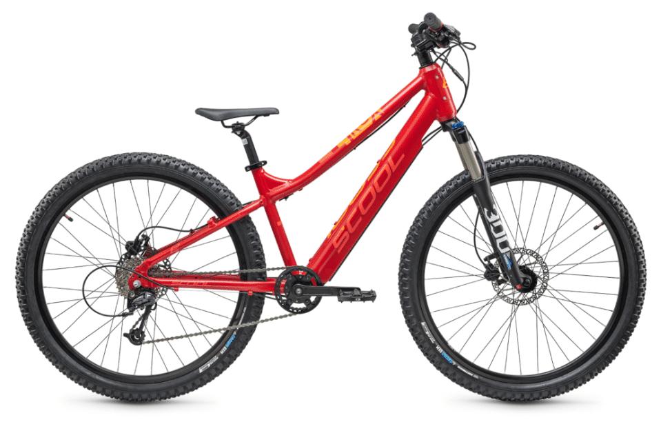 "S'COOL kids electric bike S'cool e-troX 26"" 9S Alivio Red"