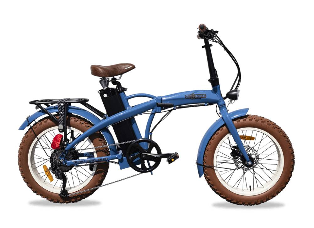 "Gorille Electric Folding Fat Bike Gorille Baby 20"" 520Wh Blue 25km/hr"