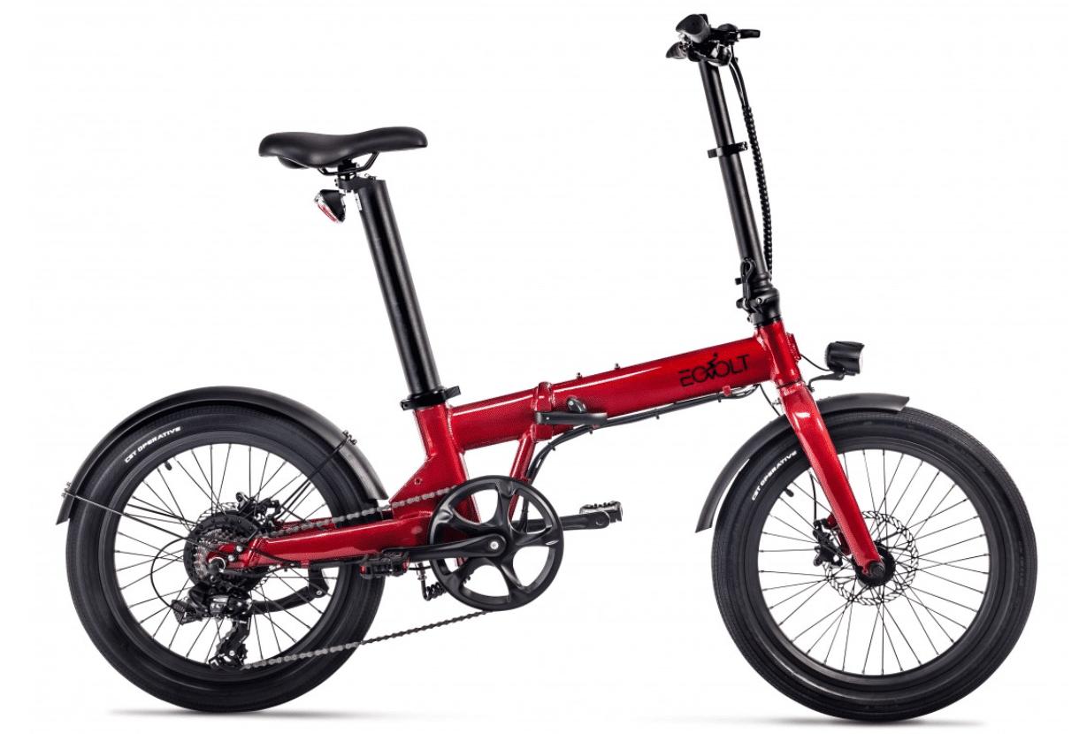 EOVOLT Electric Folding Bike 20 inch EOVOLT Comfort Red