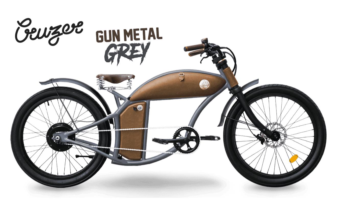 Rayvolt E Bike chopper Cruzer 45km/hr Grey M 550Wh