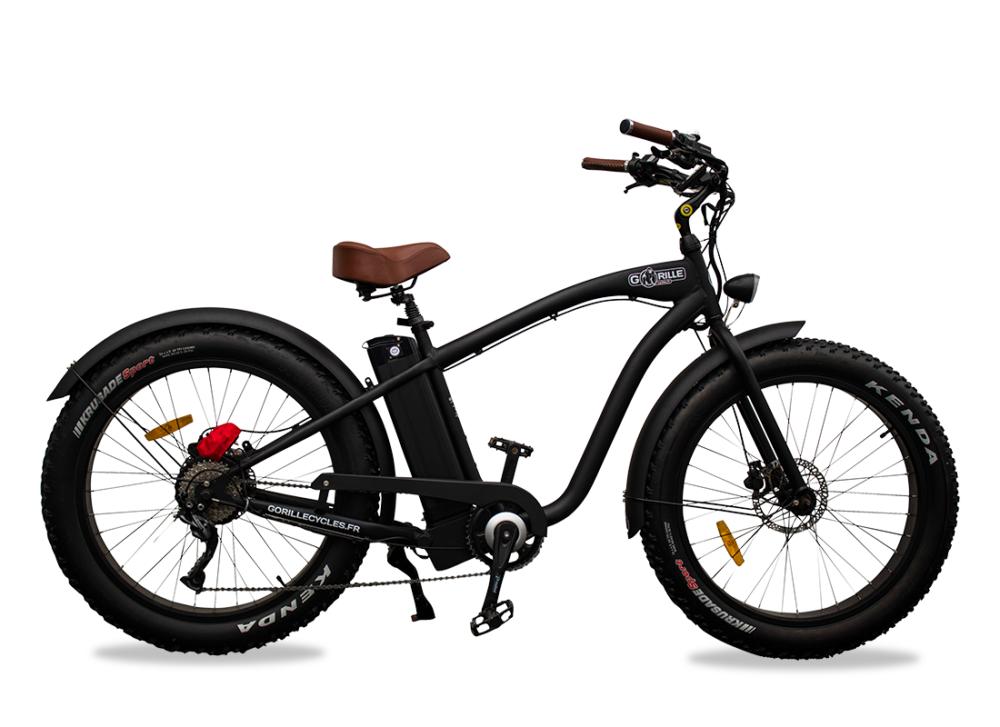 Gorille Electric Fat Bike Beach Cruiser Gorille 520Wh Black