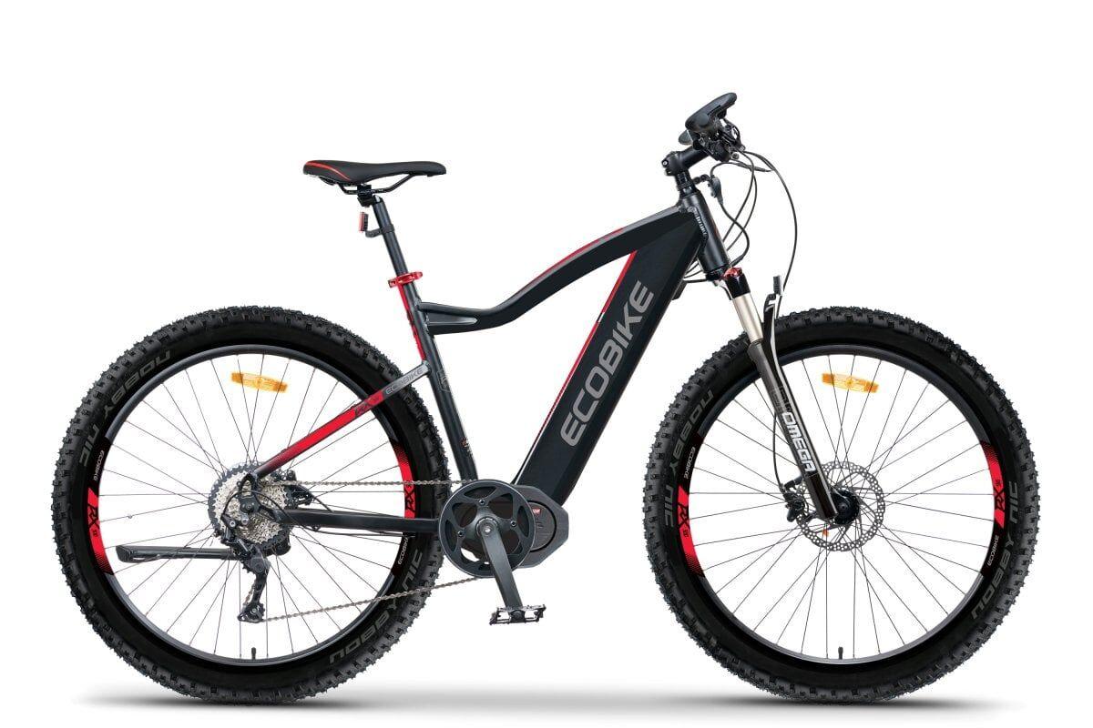 Ecobike Mid Drive Electric Mountain Bike Speed Pedelec 45km/h Ecobike RX500 M 624Wh