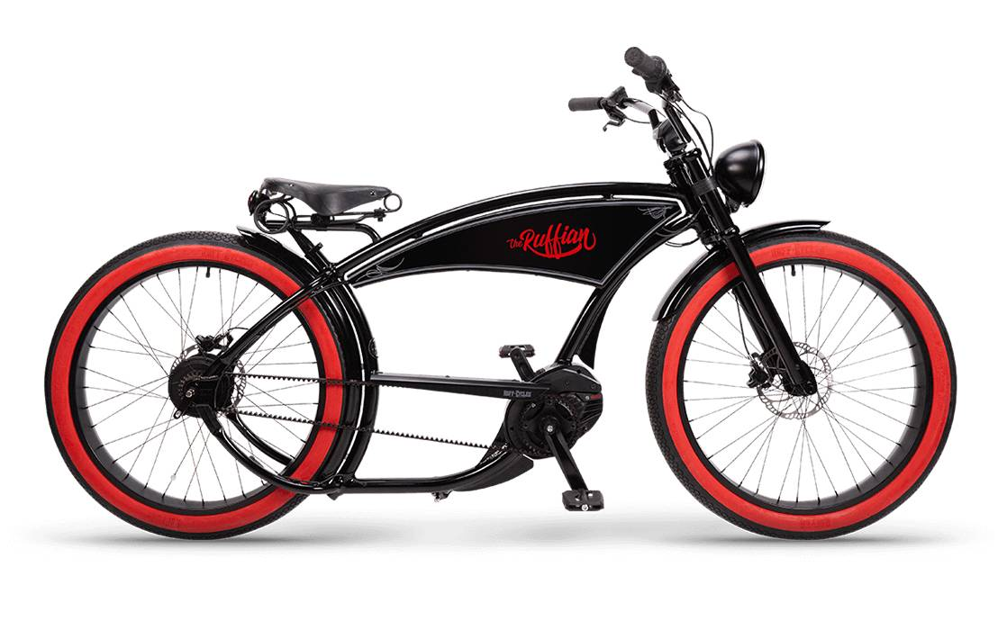 Ruff Cycles Ruffian Electric Chopper Bike Bosch Mid Drive 500Wh Black
