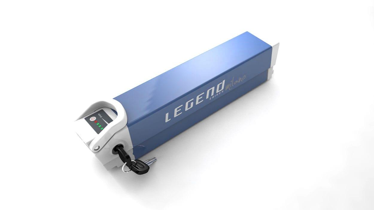 Legend spare battery for Milano 36V 10.4ah Sanyo-Panasonic white