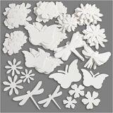 Creativ Company Summer Die Cut, size 4,5-12 cm, 240 g, white, 362 pc/ 1 pack