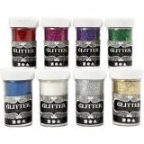 Creativ Company Glitter, assorted colours, 8x20 g/ 1 pack