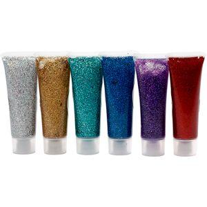 Eulenspiegel Glitter Gel, assorted colours, 6x18 ml/ 1 pack