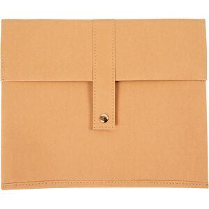 Creativ Company Faux Leather Tablet Pouch, H: 22 cm, L: 26,5 cm, 350 g, light brown, 1 pc