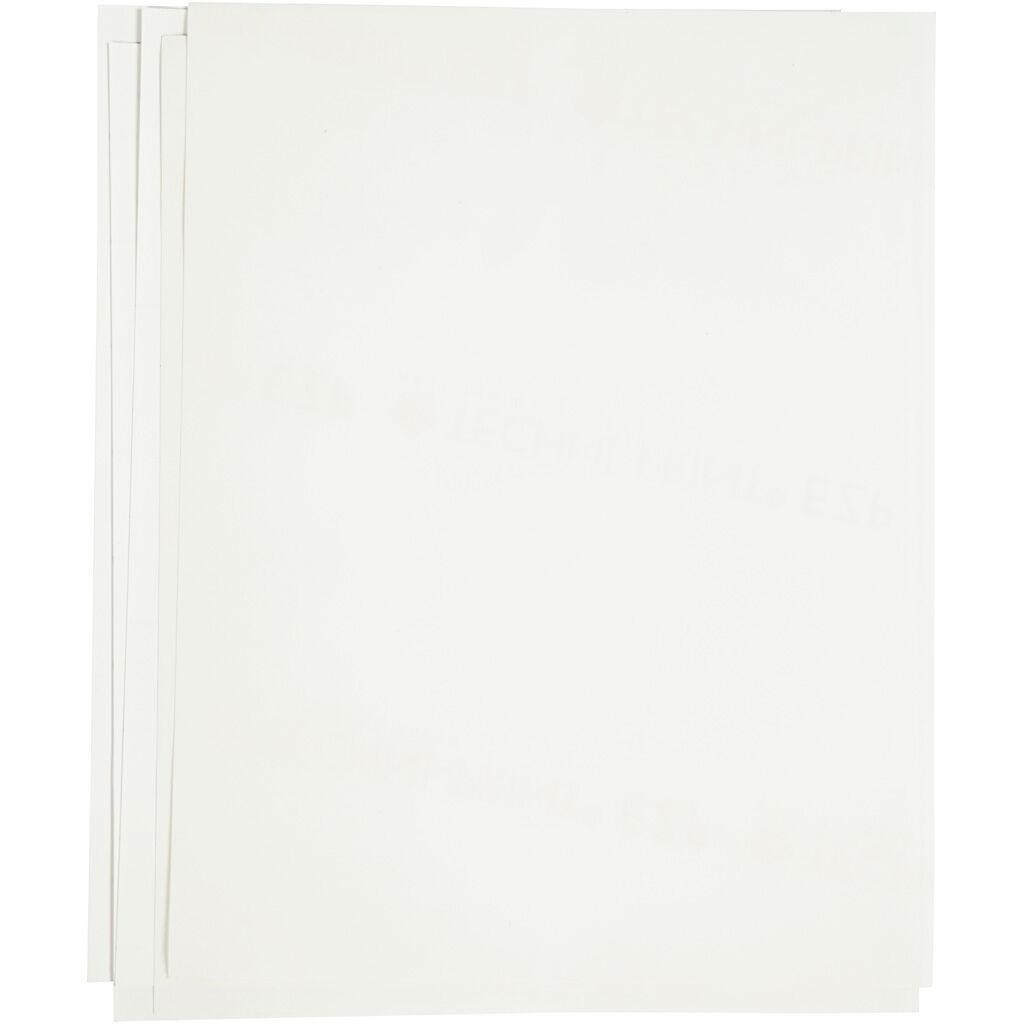 Creativ Company Transfer Sheet, 21,5x28 cm, for dark and light textiles, white, 12 sheet/ 1 pack