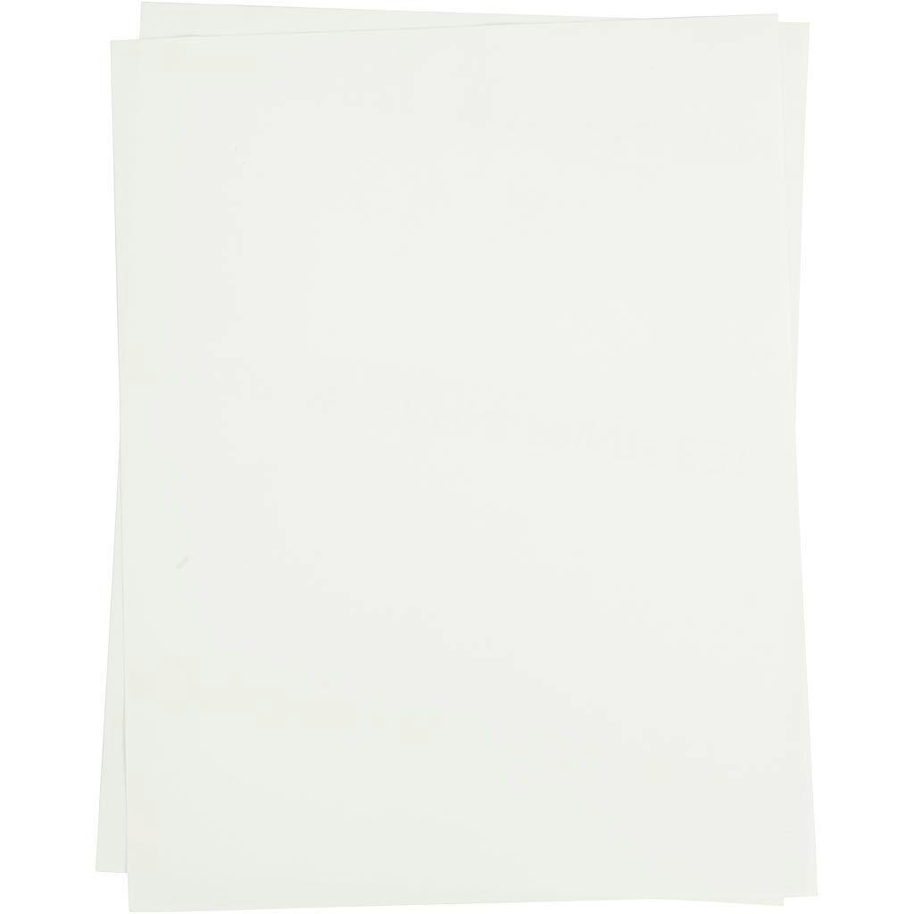 Creativ Company Transfer Sheet, 21,5x28 cm, for light textiles, transparent, 5 sheet/ 1 pack