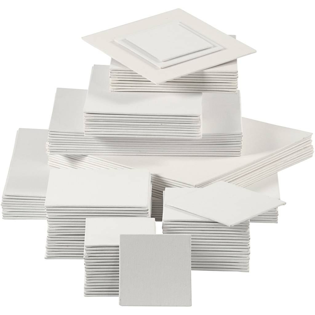 Creativ Company Canvas Panel, 280 g, white, 110 pc/ 1 pack